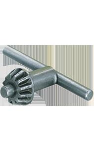 Key for gear rim drill chuck